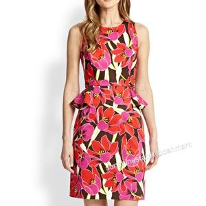 Kate Spade multicolor Peplum floral Dress